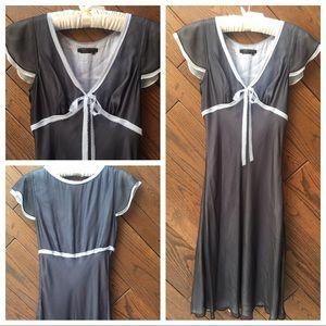 BCBGMaxazria sheer black dress size 8